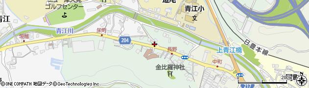 大分県津久見市上青江4870周辺の地図