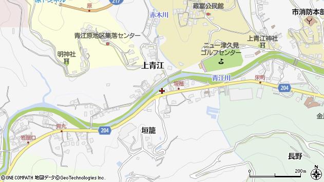 大分県津久見市上青江5033周辺の地図