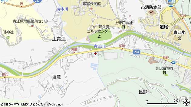 大分県津久見市上青江4990周辺の地図
