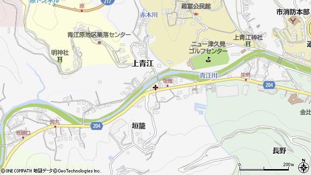 大分県津久見市上青江5032周辺の地図