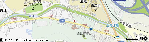 大分県津久見市上青江4884周辺の地図