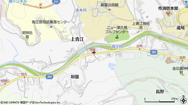 大分県津久見市上青江5025周辺の地図