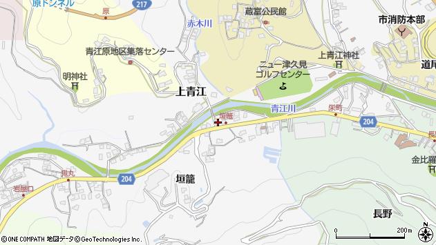 大分県津久見市上青江5029周辺の地図