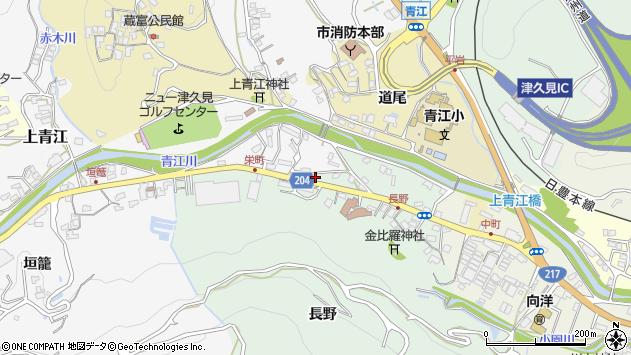 大分県津久見市上青江4889周辺の地図