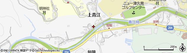大分県津久見市上青江2306周辺の地図