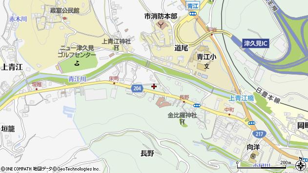 大分県津久見市上青江4887周辺の地図