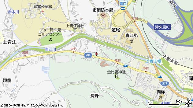 大分県津久見市上青江4888周辺の地図