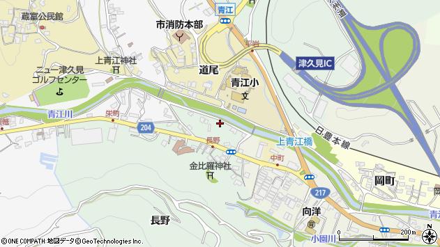 大分県津久見市上青江4908周辺の地図