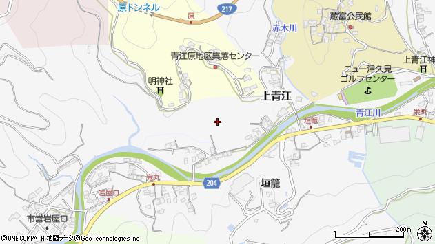 大分県津久見市上青江2347周辺の地図
