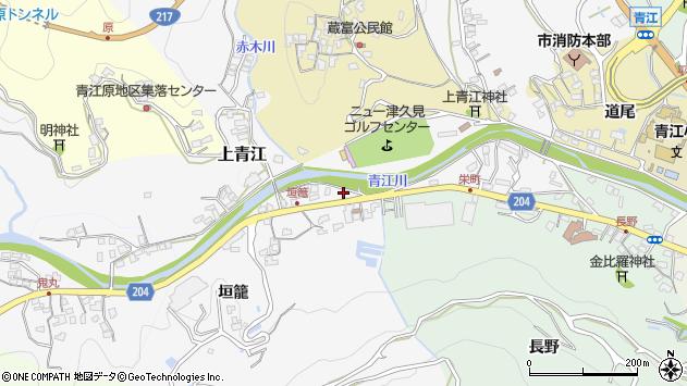 大分県津久見市上青江5019周辺の地図