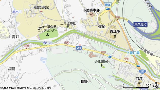 大分県津久見市上青江4898周辺の地図