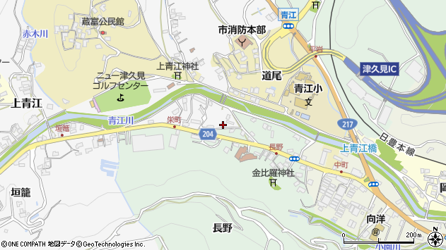 大分県津久見市上青江4893周辺の地図