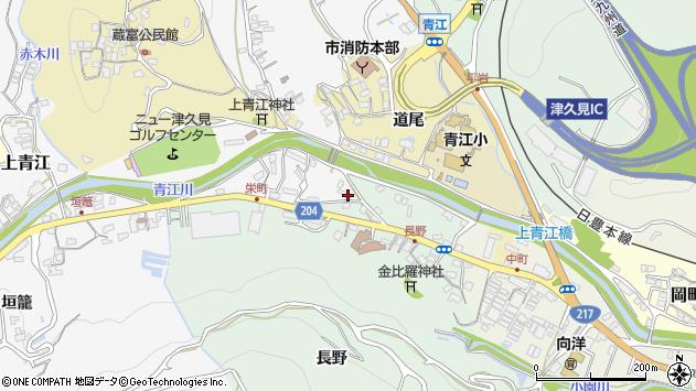 大分県津久見市上青江4894周辺の地図