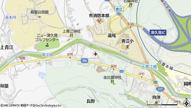 大分県津久見市上青江4926周辺の地図
