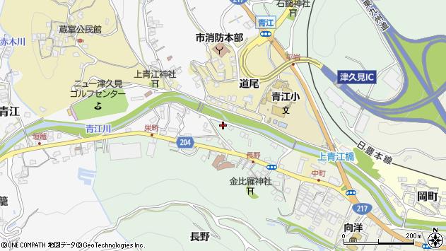 大分県津久見市上青江4921周辺の地図