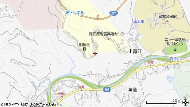 大分県津久見市上青江2084周辺の地図