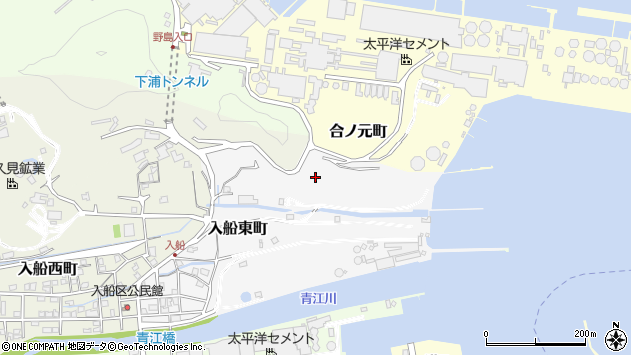 大分県津久見市入船東町16周辺の地図