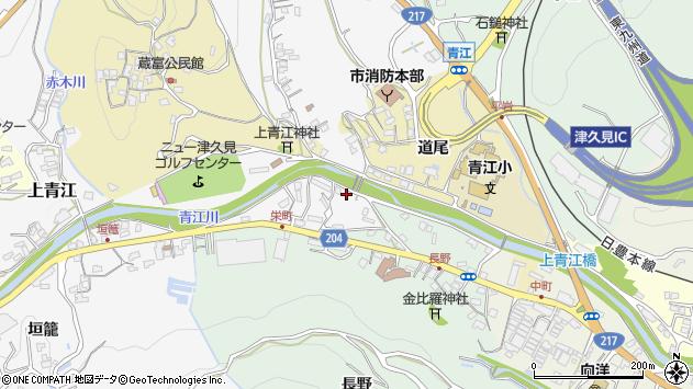 大分県津久見市上青江4929周辺の地図