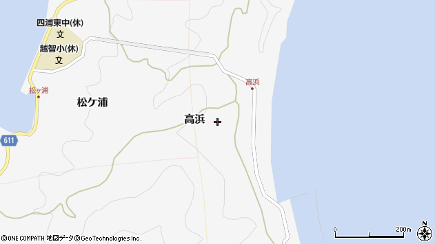 大分県津久見市四浦6188周辺の地図
