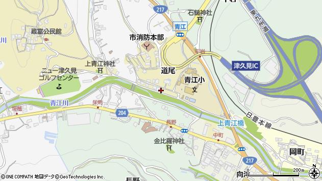 大分県津久見市上青江3519周辺の地図