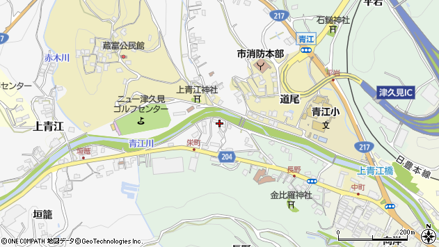 大分県津久見市上青江4934周辺の地図