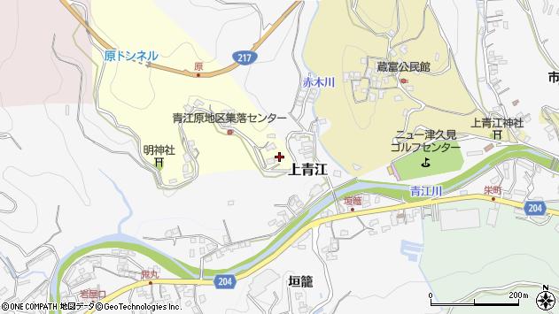 大分県津久見市上青江1998周辺の地図