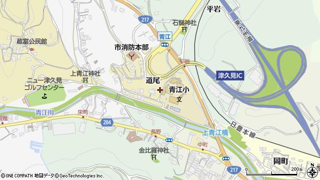 大分県津久見市上青江3524周辺の地図