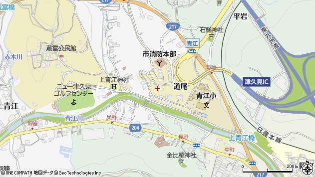 大分県津久見市上青江3608周辺の地図