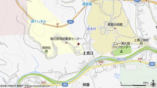 大分県津久見市上青江1989周辺の地図
