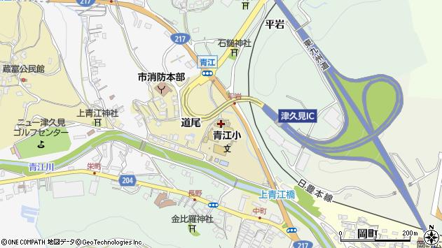 大分県津久見市上青江3549周辺の地図