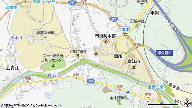 大分県津久見市上青江3501周辺の地図