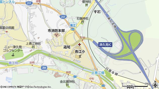 大分県津久見市上青江3571周辺の地図