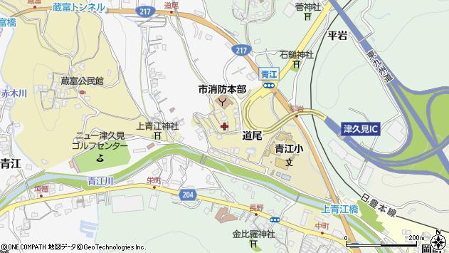 大分県津久見市上青江3495周辺の地図