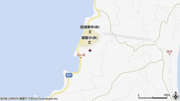 大分県津久見市四浦松ケ浦周辺の地図