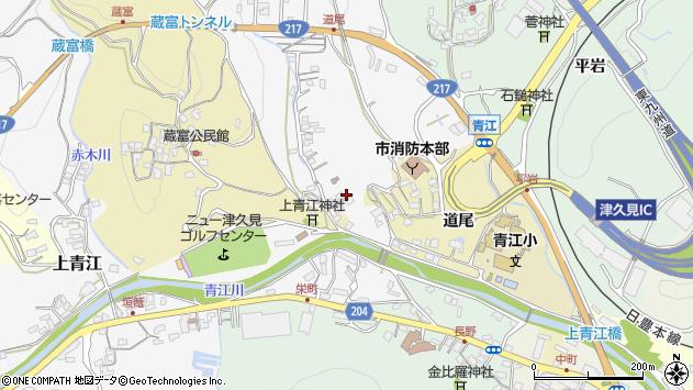 大分県津久見市上青江3282周辺の地図