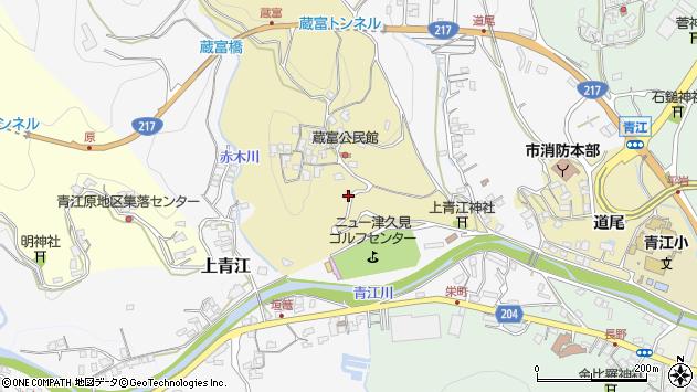 大分県津久見市上青江3171周辺の地図