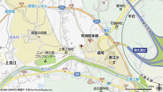 大分県津久見市上青江3621周辺の地図