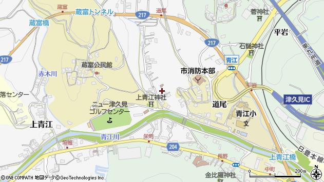 大分県津久見市上青江3280周辺の地図