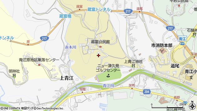 大分県津久見市上青江3186周辺の地図
