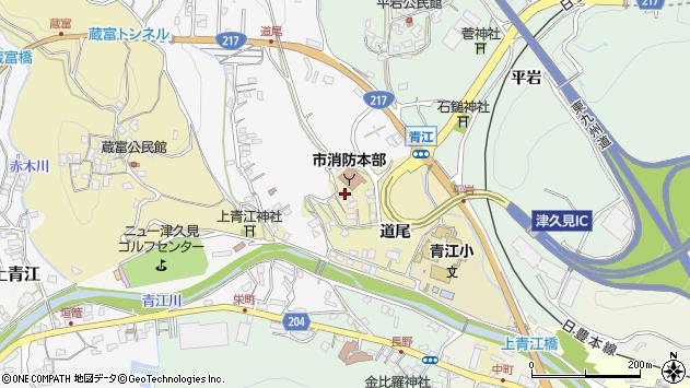 大分県津久見市上青江3492周辺の地図
