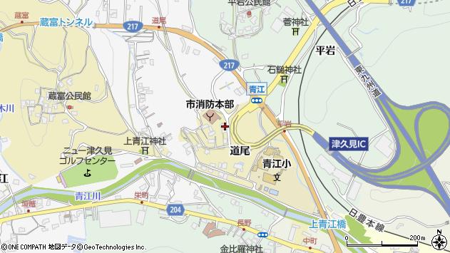 大分県津久見市上青江3616周辺の地図