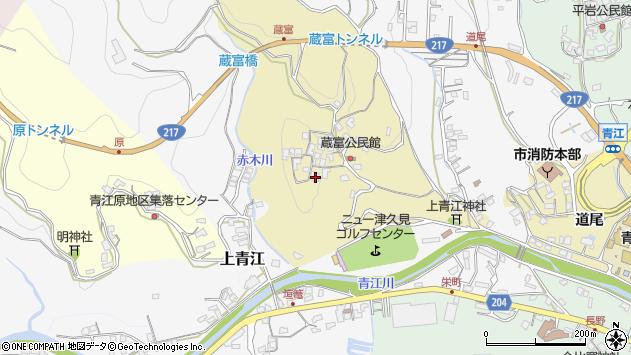大分県津久見市上青江3191周辺の地図