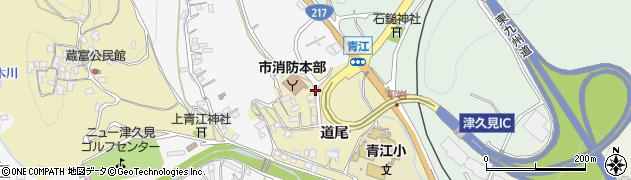 大分県津久見市上青江3617周辺の地図