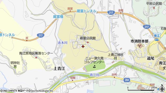 大分県津久見市上青江3193周辺の地図
