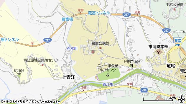 大分県津久見市上青江3192周辺の地図