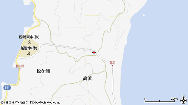 大分県津久見市四浦6015周辺の地図