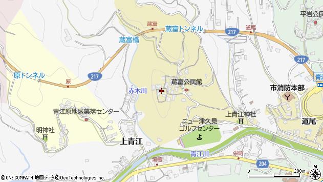 大分県津久見市上青江3201周辺の地図