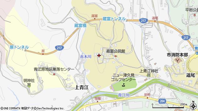 大分県津久見市上青江3204周辺の地図