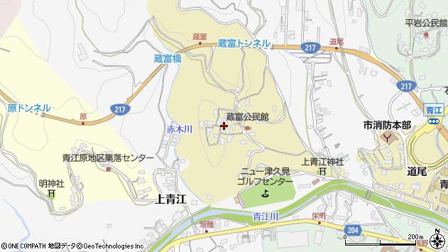 大分県津久見市上青江3199周辺の地図