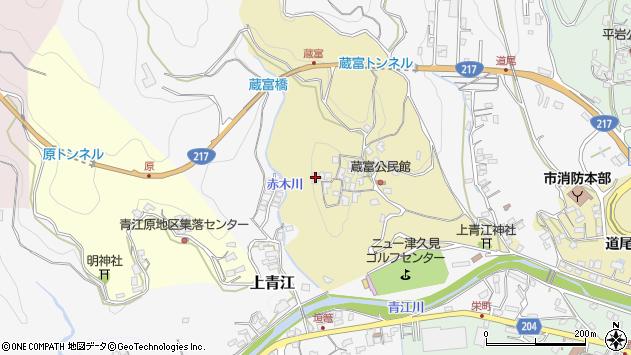 大分県津久見市上青江3203周辺の地図